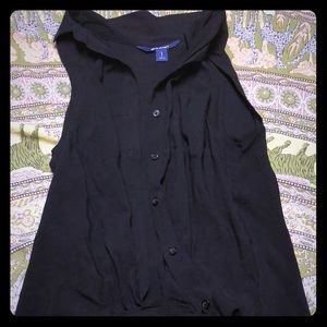 Black button up old navy tank